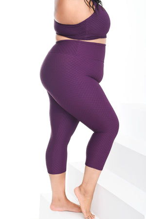 Load image into Gallery viewer, Croco Skin Curvy Cropped Leggings Açaí­