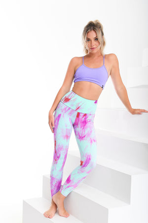 Slim Fit Marble Leggings Fuchsia