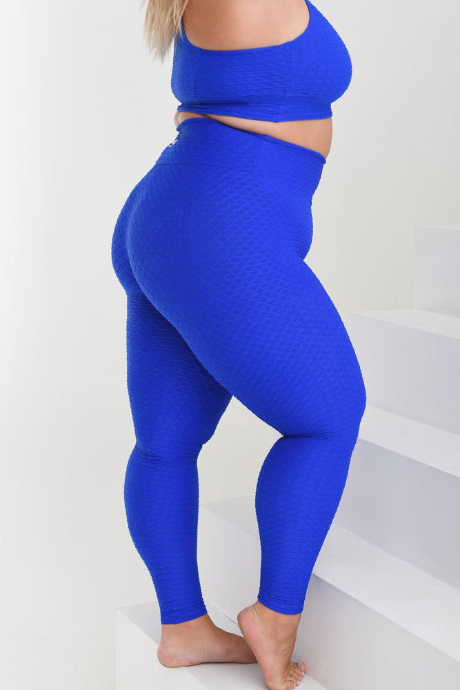 Load image into Gallery viewer, Croco Skin Curvy Leggings Royal