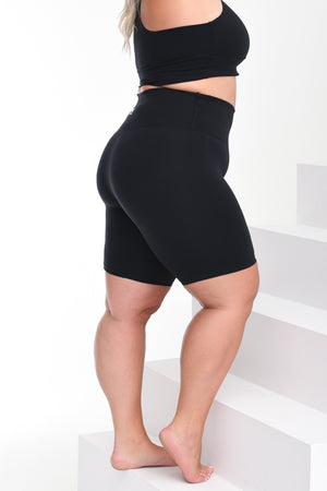 Load image into Gallery viewer, Curvy Not Your Average BBBike Shorts Black