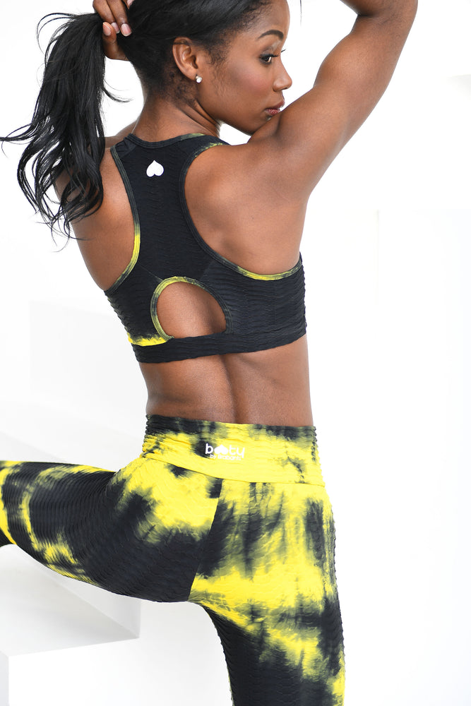 Tie Dye Top Yellow & Black