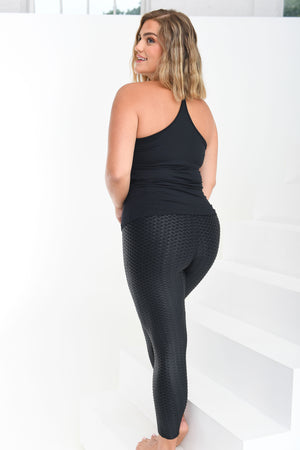 Curvy Little Black Leggings