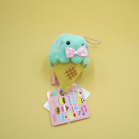 Mini Ice Cream Plush Keychain