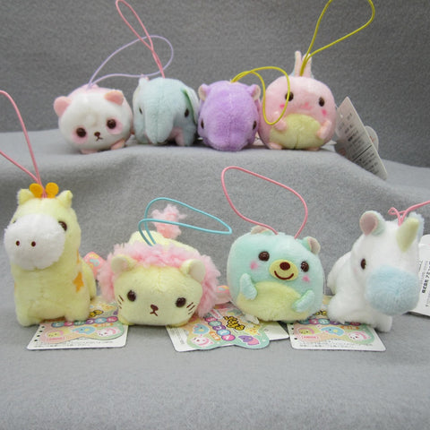 Mini Animal Plush Keychain Set