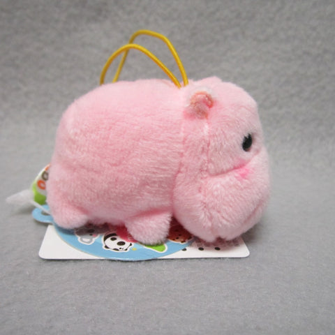 Mini Hippo Plush Keychain