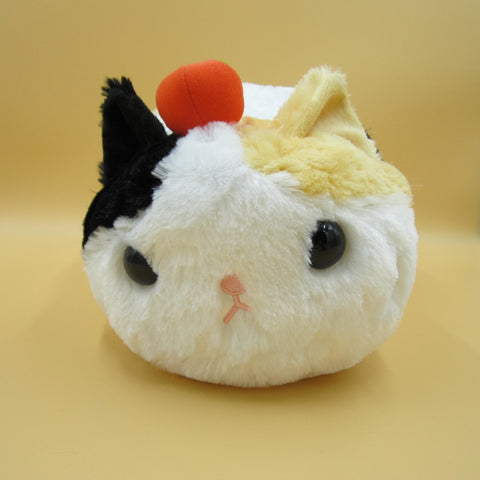 Tsuchineko Fuwa Fuwa Cat Plush (Long haired Calico with Apple)