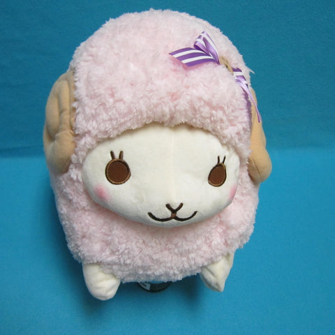 Fuwamoko Natural Wooly the sheep 38cm Pink