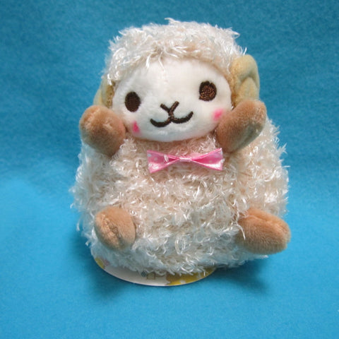 "Fluffy Hugging Sheep Plush 4.5"" (brown)"