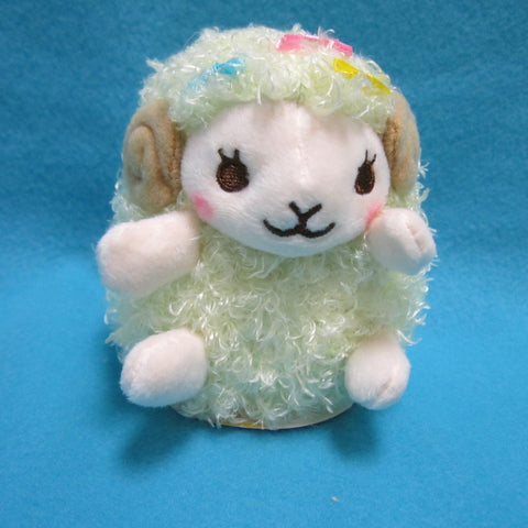 "Fluffy Hugging Sheep Plush 4.5"" (green)"