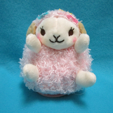 "Fluffy Hugging Sheep Plush 4.5"" (pink)"