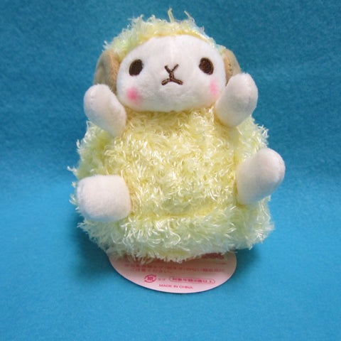 "Fluffy Hugging Sheep Plush 4.5"" (yellow)"