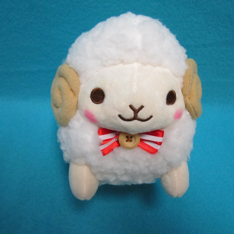 Fuwamoko Natural Wooly the sheep 18cm White
