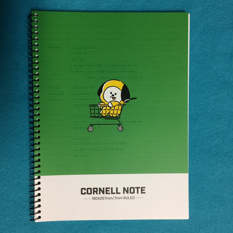 Kpop - BTS BT21 Cornell Note - Green