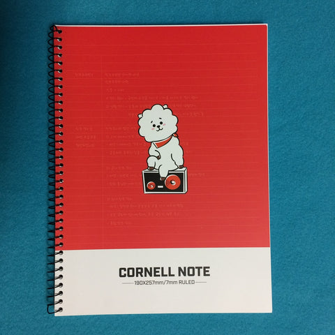 Kpop - BTS BT21 Cornell Note - Red