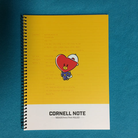 Kpop - BTS BT21 Cornell Note - Yellow