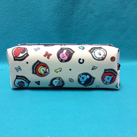 Kpop - BTS BT21 Pencil Pouch - White