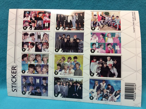 Kpop - BTS Poster Set V9 - Sticker