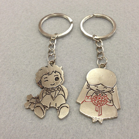 Bride and Groom Couples Keychain