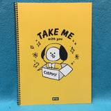 Kpop - BTS BT21 Spiral Note - Chimmy