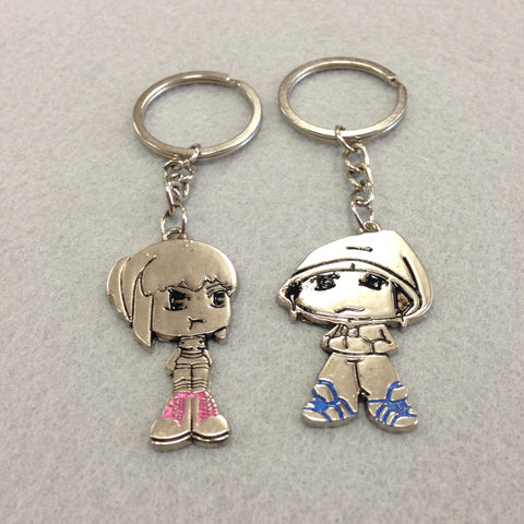 Cool Couple Couples Keychain
