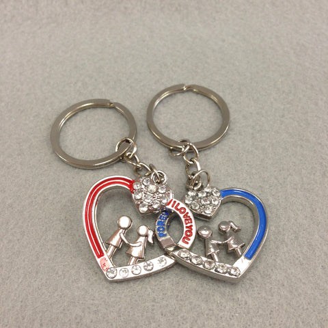 Interlinking Hearts Couples Keychain