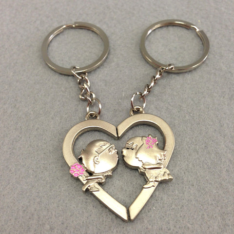 Kissing Heart Couples Keychain