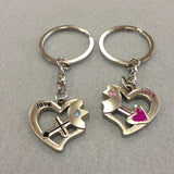 Love Heart Couples Keychain