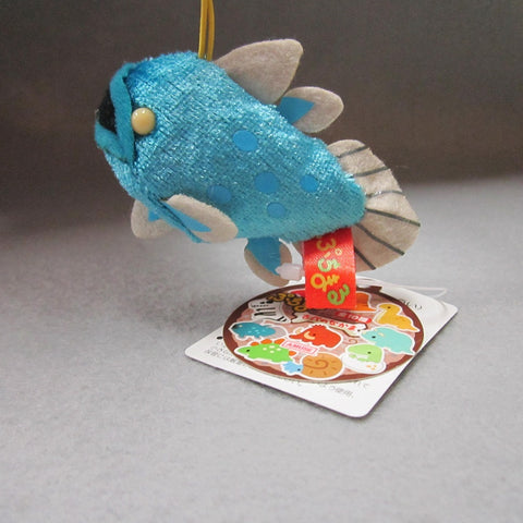 Mini Coelacanth Plush Keychain