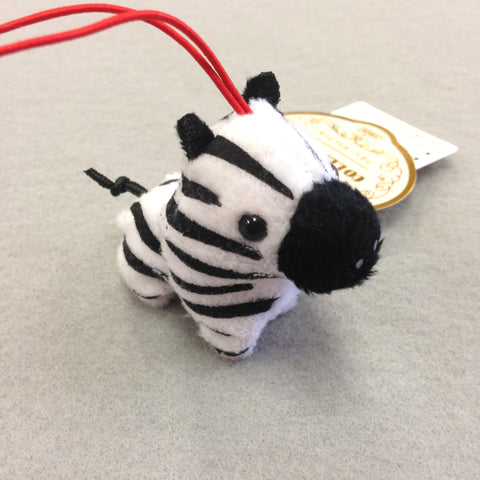 Mini Zebra Plush Keychain