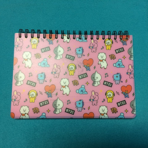 Kpop - BTS BT21 Note - Drawing Book Pink