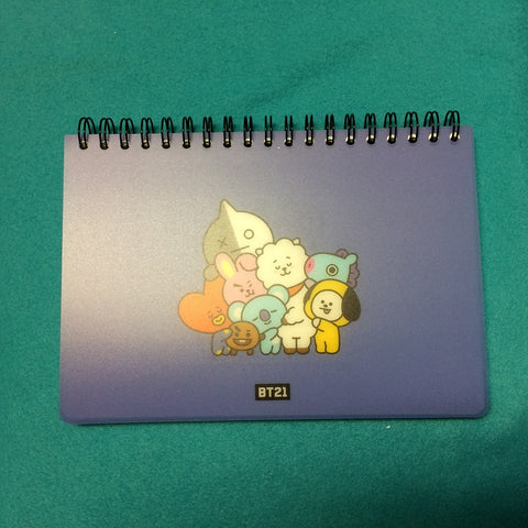 Kpop - BTS BT21 Note - Drawing Book Purple