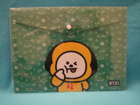 Kpop - BTS BT21 PPFilePocket Green