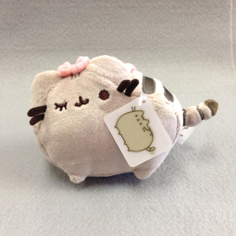 Pusheen Plush Keychain 5in (Girly)