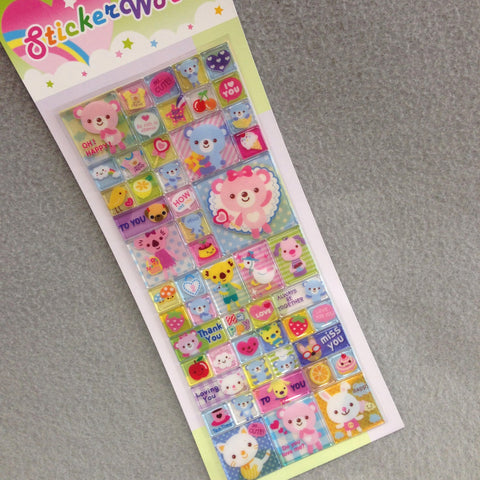 Block Stickers (Bear)