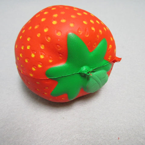 Squishy Jumbo Strawberry with chocolate bottom