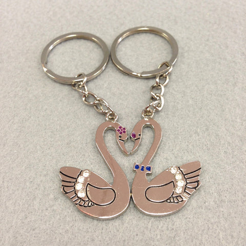 Swans Couples Keychain