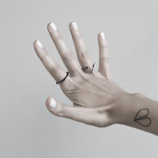 gentle FLOATING GEOMETRIC RING by ADI LEV design