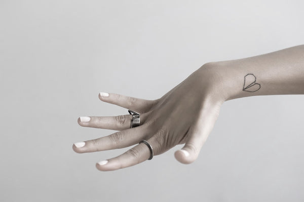 delicate FLOATING GEOMETRIC RING by ADI LEV design