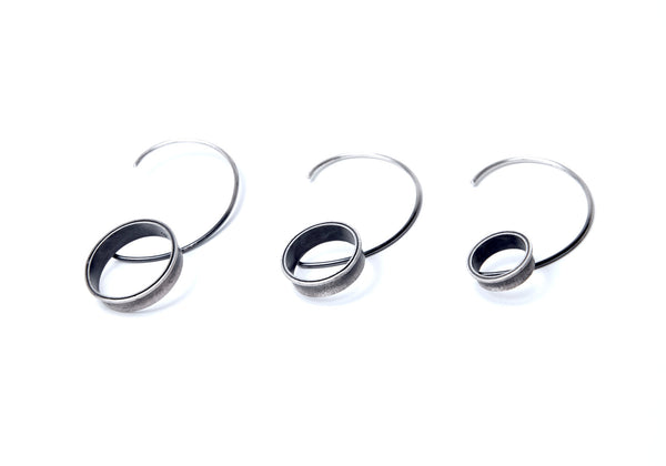 black silver MEDIUM demi extensions HOLE EAR CUFF by ADI LEV design