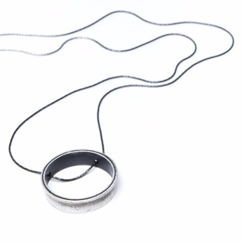 LONG HOLE PENDANT NECKLACE by ADI LEV design