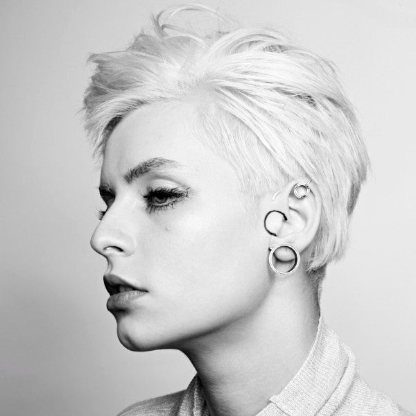 silver MEDIUM extensions HOLE EAR CUFF by ADI LEV design