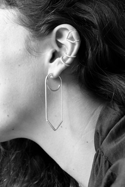 SEFETY PIN EARRING L