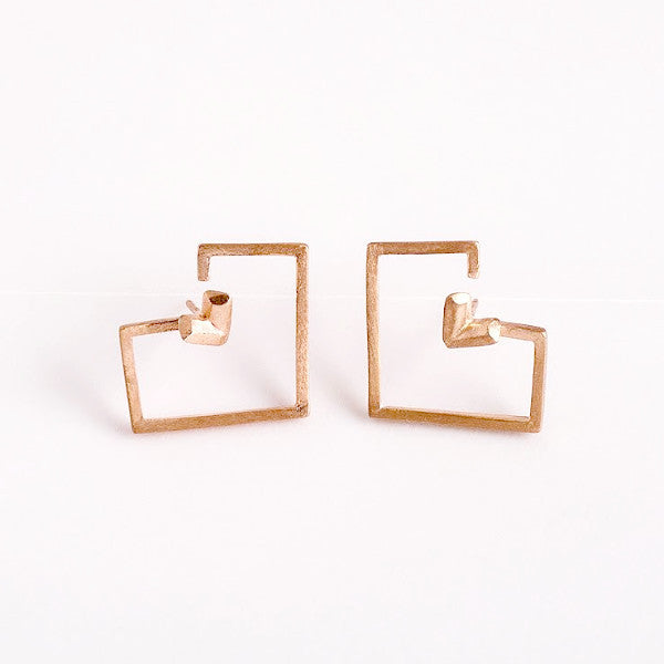 PIXELATED HEART EARRINGS