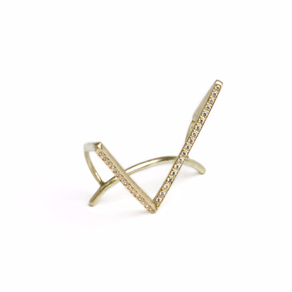 DIAMONDS GEOMETRIC EAR CUFF