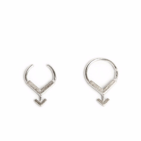 silver ARROW V SEPTUM RING by ADI LEV design