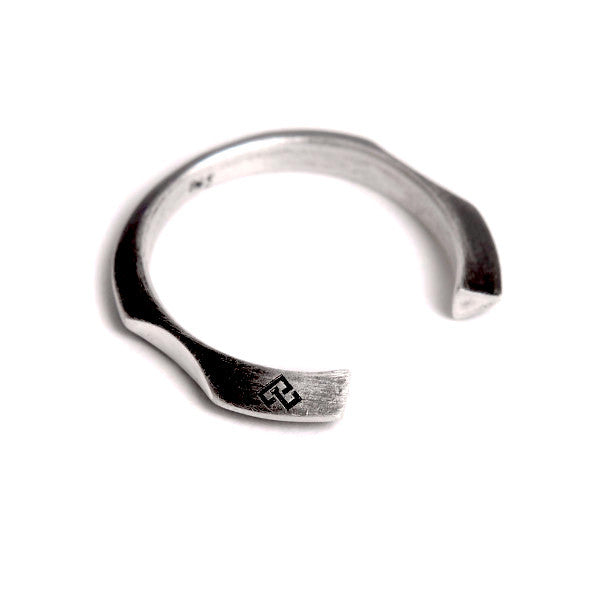 black silver FINGERS NICHE OPEN RING by ADI LEV design