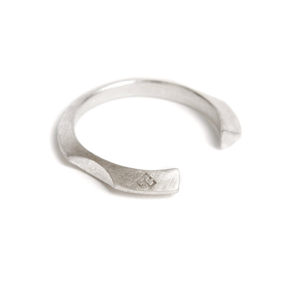 silver FINGERS NICHE OPEN RING by ADI LEV design