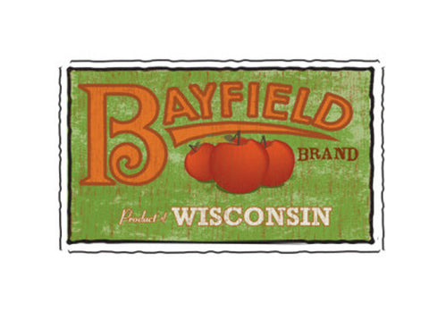 bayfield wisconsin fruit crate label