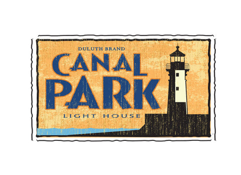 canal park duluth minnesota fruit crate label