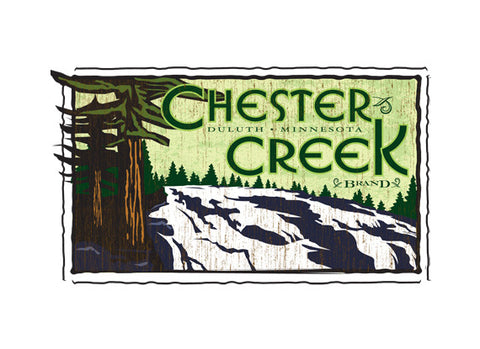 chester creek fruit crate label